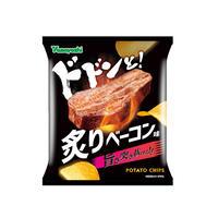 【袋販売】ポテトチップス ドドンと!炙りベーコン味 55g