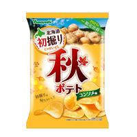 【袋販売】ポテトチップス 秋ポテト コンソメ味 90g