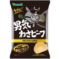 ポテトチップス 男気わさビーフ 100g(1ケース:12袋入)