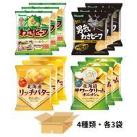 【わさび&北海道を楽しむ 12袋】詰め合わせ(4種類×各3袋)