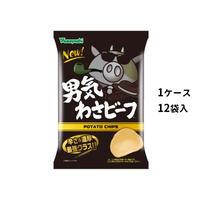 【ケース販売】ポテトチップス 男気わさビーフ (1ケース:100g×12袋入)
