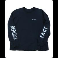 grunge long T-shirts black