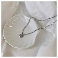 Silver heart necklace【R0181】
