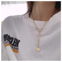 Gold heart necklace【R0060】