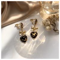 Luxury heart earring&pierce【R0093】