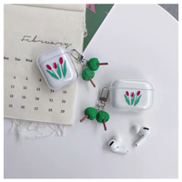 Art tulip Airpods ケース【P0005】