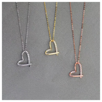 Cross heart necklace【R0061】