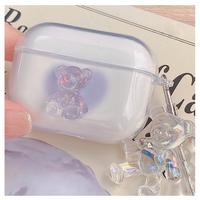 Clear bear Airpods case【P0044】