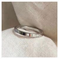 Bright cut stone ring【R0174】