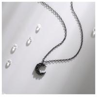 Black moon necklace【R0096】