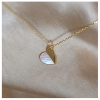 Shell heart necklace【R0066】