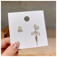 Heart ribbon pierce【R0087】