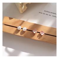 pearl&flowerpink pierce セット【R0014】