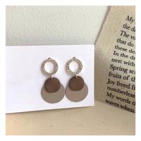 brown disk pierce【R0021】