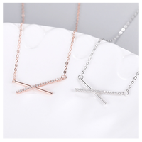 Simple cross line necklace 【R0014】