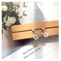 flower pearl pierce&earring【R0018】