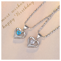 Open heart stone necklace 【R0038】