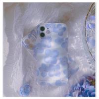 Blue flower iPhone case【E0099】