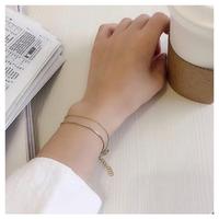 Simple line bangle【R0103】