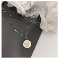 Silver medal necklace【R0027】