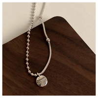 Lucky medal necklace【R0099】