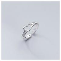 Chain heart ring【R0005】
