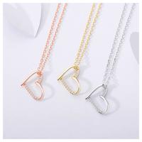 Cross heart necklace【R0061】