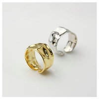 Simple wide ring 【R0091】