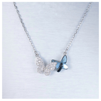 Double butterfly necklace【R0013】