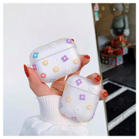 Flower clear Airpods case 【P0027】