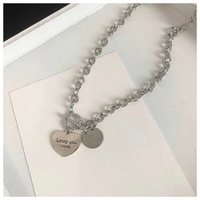 Heart pendant necklace【R0064】