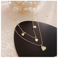 Gold heart necklace【R0042】