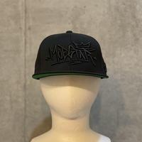 ロゴタイプ cap BLACK×BLACK