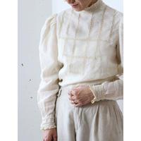 70's Irish linen blouse