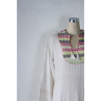 60's~ India Cotton Maxi Dress [950C]