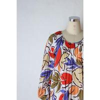 80's Pleats Dress [682C]