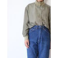 90's Silk×Rib Shirt [No.80189]