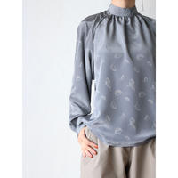 70's~ Leaf pattern blouse