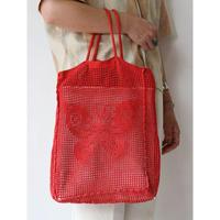 "Crochet ToteBag ""Red"" [No.60090]"