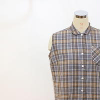 ~70's ノースリーブチェックシャツ [195a]