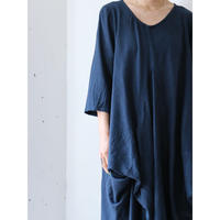 Linen drape dress