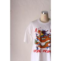 """80's~ T-shirt """"HongKong"""" [592C13]"""