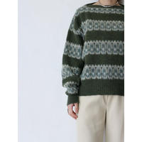60~70's Patterned Sweater