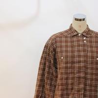 90's 変形ネルチェックシャツ [593C3]