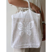 "Crochet ToteBag ""White BTF"" [No.60093]"