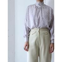 80's Back open blouse