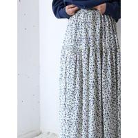 Floral rayon skirt