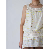 Lace Gauze N/S Tops [No.70046]