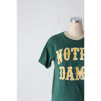 "70's Chanpion T-shirt ""NORTREDAME"" [673C1]"