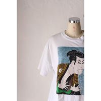 """Japanese souvenir T-shirt """"ukiyoe"""" [590C6]"""